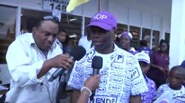 Andre Misiekaba (NDP) en Harish Monorath (ABOP/AC) naar de stembus...