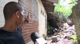 Verrotte boom vernietigd woonhuis...