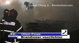 Woning aan de Elisabethweg volledig afgebrand...